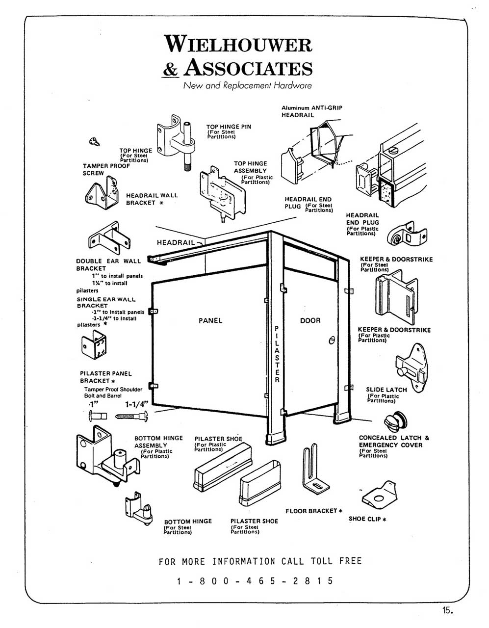 bathroom stall parts. Toilet Partition Diagram Showing Common Components And Replacement Parts. Bathroom Stall Parts Wielhouwer Hardware Specialists