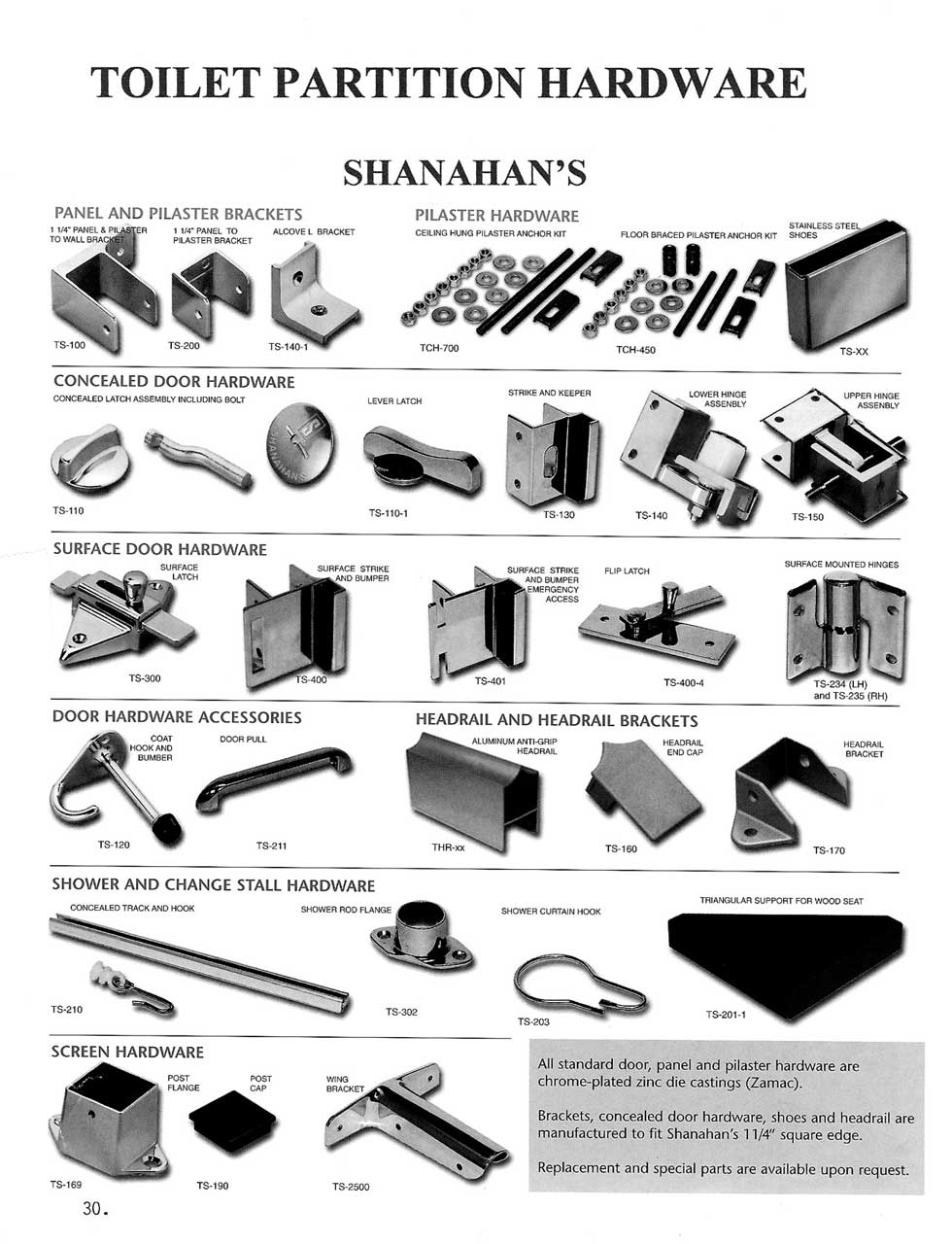 bathroom stall parts. Toilet Partition Hardware - Shanahan\u0027s Bathroom Stall Parts O