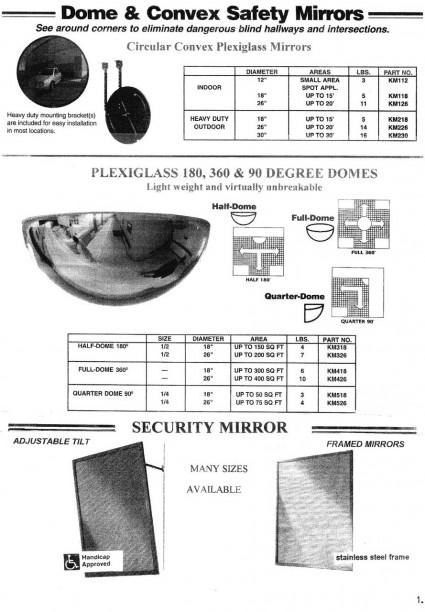 Dome & Convex Safety Mirrors